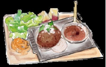 オーブン焼きの和おろしハンバーグ